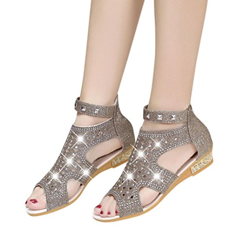 d1a2c5da6 Sandalias mujer ❤ Amlaiworld Sandalias de cuña mujer sandalias mujer de primavera  verano 2018 vestir con plataforma Zapatos de planas chanclas de señoras ...