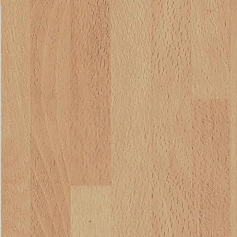 Beech Block Wood Effect Laminate Kitchen Countertop Worktop - Trade-Top - 3050mm x 600mm x 38mm