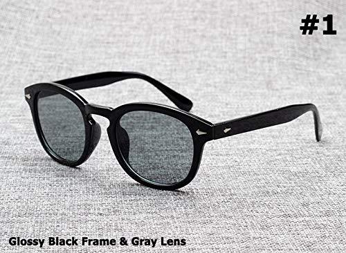 SUNNYBQM Sonnenbrillen Mode Johnny Depp Lemtosh Stil Sonnenbrille Vintage Round Tint Ocean Lens Sonnenbrille Oculos De Sol