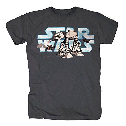 Wars Star Rabatt Kostüm - TSP Star Wars - AT-AT Comic T-Shirt Herren XL Dunkelgrau