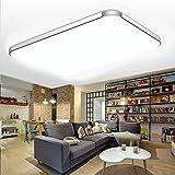 SZYSD LED Ultraslim Panel Deckenleuchte Badleuchte Deckenlampe Goldenr Kante Flurleuchte (64W Warmweiß)