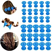 30Pcs Hair Rollers Curlers, Beautyshow Magic Hair Rollers Silicone Hair Style Rollers Soft DIY Sleep Hair Styl