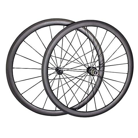 IMUST Carbon Laufradsatz Höhe 38mm Drahtreifen Schlauchlos Clincher Tubeless Felge für Rennrad Sapim CX Ray Speichen Powerway Nabe R36