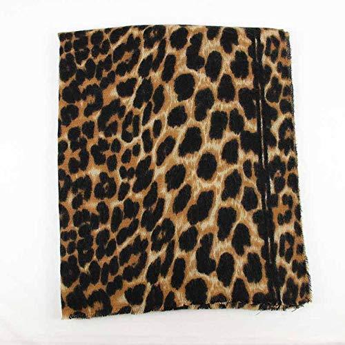 WLM Schal Damen sexy Tierdruck, Bedruckte Schal, Leopardenmuster Warmen Dicken Schal, Schal Dual-Use,Abschnitt b,Einheitsgröße