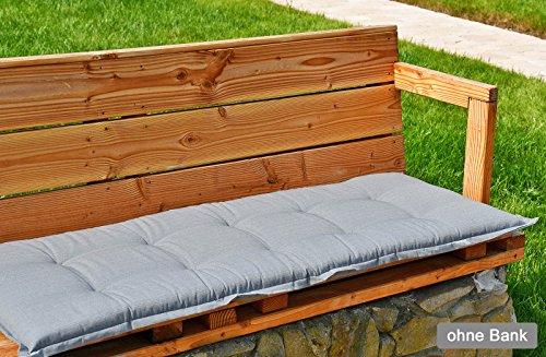 Bankauflage 140x47 cm in grau SUN GARDEN Naxos 50215-711 ohne Bank