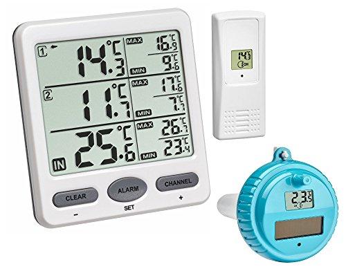 TFA-Dostmann Funk-Thermometer Trio Plus TFA 30.3062.Plus 3-fache Temperaturkontrolle (Weiss 30.3062.02.Plus)