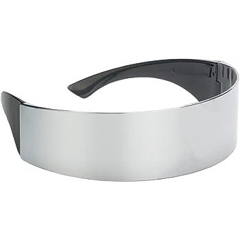 01944c7f73e5e Sharplace Lunettes Futuristes - Style Cyborg - Pour femme - Taille unique
