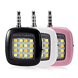 Bluebill Basic MINI Portable 16 LED Spotlight smartphone led flash fill light for iPhone and Android Devices for External Flash Fill Light Self (Mix color)