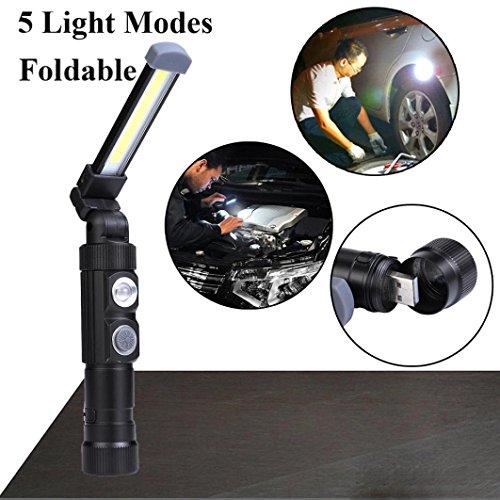 Wawer Tragbare Cob LED Wiederaufladbare Arbeit Licht Magnet Taschenlampe Lampe Licht