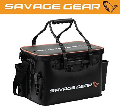 Savage Gear Boat & Bank Bag S (37,5x25x25cm) Angeltasche zum Spinnfischen, Spinntasche, Blinkertasche, Anglertasch, Tasche zum Spinnangeln, Ködertasche