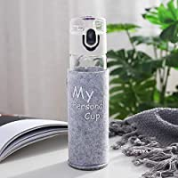 Glass Cup Anti-Scald High Boron Silicon Water Cup Portable Outdoor Portable Cup 250ml White