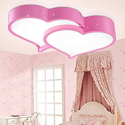 BLYC- Chambre minimaliste moderne lampe lumière nordique créatif plafonnier Lampe de plafond lumineux réglable en continu pour enfants en forme de coeur chambre , pink