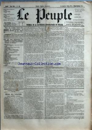 PEUPLE (LE) [No 169] du 07/05/1849 - COMITE DEMOCRATIQUE-SOCIALISTE DES ELECTIONS - MM. BAC - CARET - CHARASSIN - CONSIDERANT - D'ALTON-SHEE - DEMAY - GENILLER - GREPPO - HERVE - HEZAY - LAGRANGE - LAMENNAIS - LANGLOIS - LEBON - LEDRU-ROLLIN - LEROUX - MADIER DE MONTJAU - MALLARMEE - MONTAGNE - PERDIGUIER - PROUDHON - PYAT - RIBEYROLLES - THORE ET VIDAL