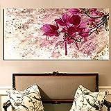 XNFX Moderne Abstrakte Rote Blume Poster Und Drucke Landschaft Ölgemälde Auf Leinwand Bilder An Der Wand Kunst Für Wohnzimmer