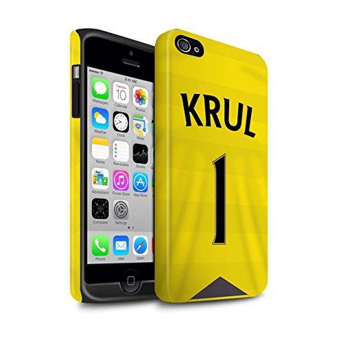Offiziell Newcastle United FC Hülle / Matte Harten Stoßfest Case für Apple iPhone 4/4S / Pack 29pcs Muster / NUFC Trikot Home 15/16 Kollektion Krul