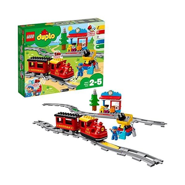 LEGO - DUPLO Treno a Vapore con Locomotiva Push And Go e 5 Mattoncini Multifunzione, Set di Costruzioni per Bambini dai… 3 spesavip