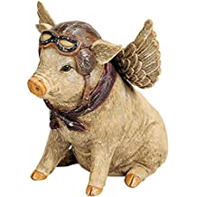 Spardose Schwein mit Flügel Sparschwein Engel Glück Figur Deko Gusseisen retro