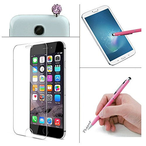 Pheant®[4 in 1] Apple iPhone 6S/6 (4.7 pouces) Coque Gel Étui Housse de Protection Transparent Cas avec Verre Trempé Protecteur d'écran Stylet Bouchon Anti-poussière(Prune Fleur) Chrysanthème