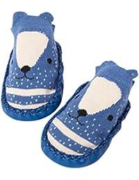 hunpta Cartoon bebé recién nacido Niñas Niños Antideslizante Calcetines Zapatillas Bell zapatos botas