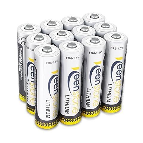 Keenstone 12 Stück Spezielle 1,5V 2900mAh AA Lithium-Batterien Höhere Kapazität