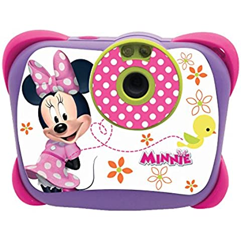 Lexibook LE-DJ134MN Fotocamera Digitale per Bambine con Flash, Minnie,