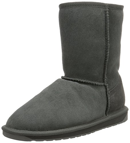 Emu Stinger Lo, Damen Schneestiefel, Grau (Charcoal), 38 EU (5 UK) (Slouch-stiefeletten)