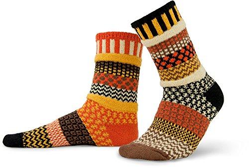Solmate Socks Damen und Herren Gestreifte Socken, Vogelscheuche Klein (Regenbogen-gestreifte Socken)