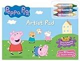 Enfants Peppa Pig Artiste Géant Coussinet Colorer Crayons 50 Autocollants Voyage