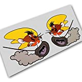 Speedy Gonzales Maus Charakter Spaß Custom Grafik Aufkleber Motorrad Auto