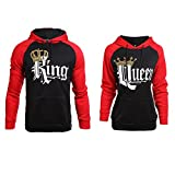 Stephaee Pärchen King Queen Kapuzenpullover Set Pärchen Pullover Hoodies Sweatshirts