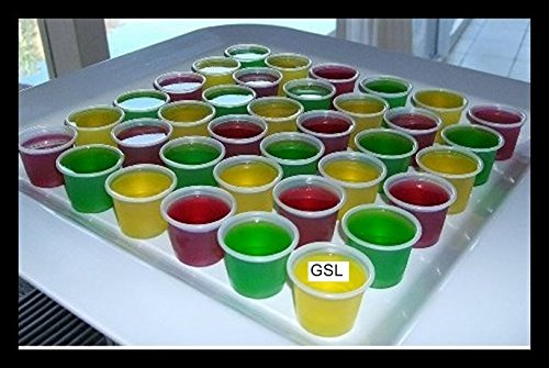 Unzen Einweg Wodka Rum Party Jelly Shot Topf drrink Brille Dessert Cup Container mit Auslaufsicher Deckel farblos