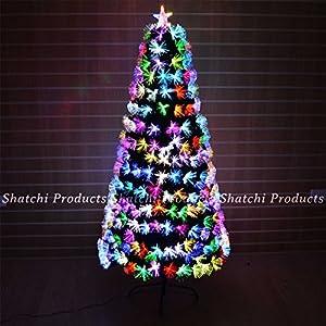 Gifts 4 All Occasions Limited SHATCHI-695 - Árbol de Navidad (180 cm, fibra óptica, varios efectos de decoración), color verde