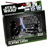 Star Wars Weapons & Battles Illustrated Double Deck Playing Cards in Tin with 5 Bonus Dice by Cartamundi playing cards