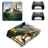 Playstation 4 Pro + 2 Controller Aufkleber Schutzfolien Set - Assassins Creed Origins (2) /PS4 P