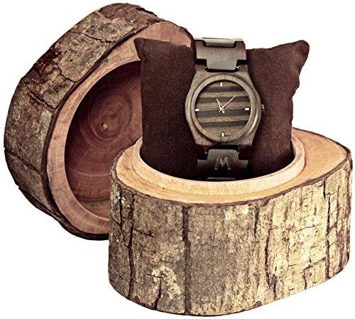 matoa-gili-holz-armbanduhr-handgefertigt-aus-recyceltem-ebenholz-unisex-holzuhr-fur-damen-und-herren