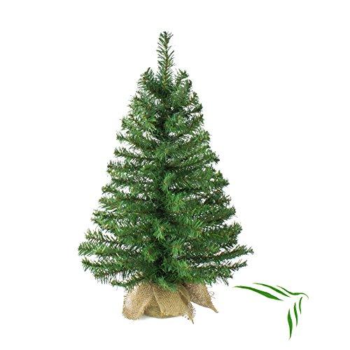 Künstlicher Tannenbaum ATHEN im Jutesack, 80 Zweige, 60 cm, Ø 22 cm - Kunst Weihnachtsbaum / Deko Christbaum - artplants