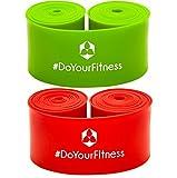 #DoYourFitness 2er Set Flossband »Herculexx« 1mm & 1,2mm Stärke: Kompressions- und Widerstandsband zum Umwickeln der Muskeln und Gelenke, in verschiedenen Stärken Farbe: rot/grün