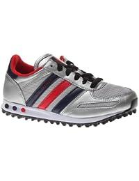 Zapatos grises Adidas LA Trainer infantiles Fs4RJo52
