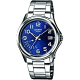 Casio Men's Quartz Watch with Silver Dial Analogue - Digital Display and Silver Mixed Strap MTP1369PD-2BVER