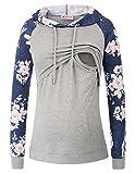 Maacie Schwangere Umstandskleidung Sweatshirt Langarmshirt Hoodie Stillpullover