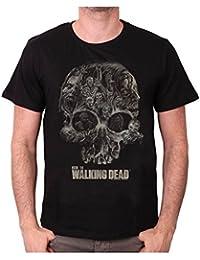 Camiseta para hombre, diseño de The Walking Dead-Walker de calavera negro Small