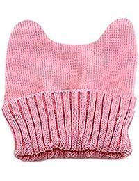 Moda para Mujer Oreja De Gato De Sombrero Invierno Punto Bastante De  Sombrero Sombrero De Punto Cálido Gorra Elegante Exquisito… 9726296d73a