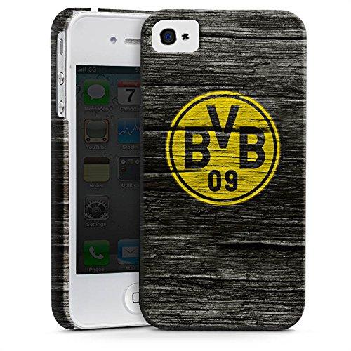 Apple iPhone 6s Silikon Hülle Case Schutzhülle Borussia Dortmund BVB Holzoptik Premium Case glänzend