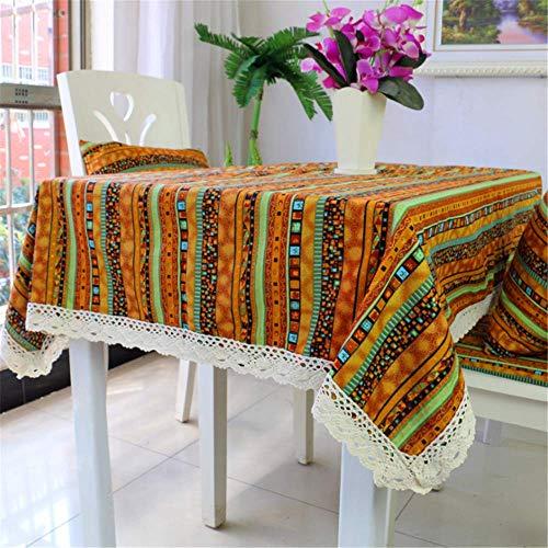 Tovaglia di cotone in lino tovaglia di arredamento tovaglia a mano fatta a mano stampata sala da pranzo per feste a casa c 150x150cm