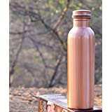 TheUrbanStreet Pure Copper Bottle for Water 1 Litre Matt Finish Dirt Proof, Leak Proof and Joint Less, Ayurveda and Yoga Health Benefits Water Bottle