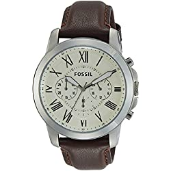 Fossil Chronograph Beige Dial Men's Watch - FS4735