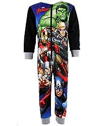 Marvel Los Vengadores niños carácter niños Micro forro polar Onesie pijamas de pijama PJ de niños All In Ones talla UK 2–8años