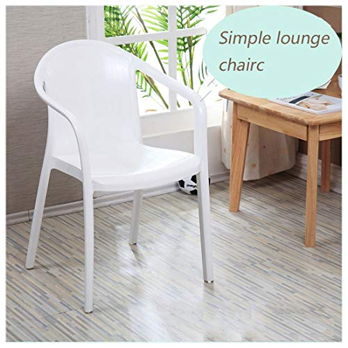Esszimmerstuhl AXZXC Esszimmerstühle Kunststoff Lounge Armlehnen Stuhl Bequeme Rückenlehne...