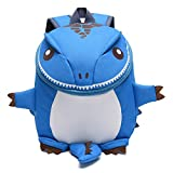 GWELL Süß Cartoon 3D Dinosaurier Babyrucksack Kindergartenrucksack Jungen Mädchen Backpack Daypack blau