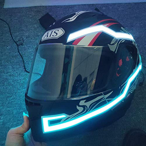 g Lights Motorcycle Helmet Signal Flashing LED Stripe Bar Sticker Lamp, (Light Blue) ()